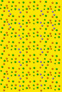 3D Outlined Dots Yellow Stock Photography