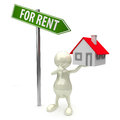 3D People house for rent Royalty Free Stock Image