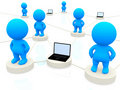 3D people networking Stock Photo