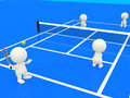 3D people playing tennis Stock Image