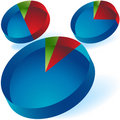 3D Pie Chart Royalty Free Stock Photos