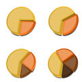 3D Pie Charts 2 Royalty Free Stock Photo