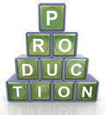 3d production pyramid Stock Photography