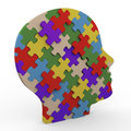 3d puzzle head Royalty Free Stock Photos