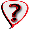 3D Question Mark in Bubble Royalty Free Stock Photography
