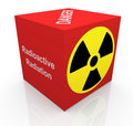 3d radiation symbol Royalty Free Stock Photo