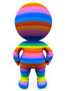 3D rainbow man Royalty Free Stock Photography