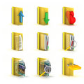 3d raster folders icons Royalty Free Stock Photography