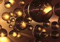 3D Reflecting Bubbles Royalty Free Stock Photography