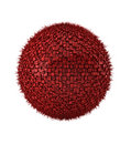 3d render of  abstract ball on white Royalty Free Stock Photos