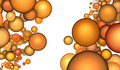 3d render abstract bubble in orange Royalty Free Stock Image