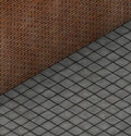 3d render brick wall with tile pavement Royalty Free Stock Image