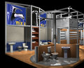 3D render of exhibition hall Royalty Free Stock Photo