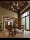 3d render modern interior Royalty Free Stock Photo