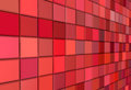 3d render mosaic red pink wall Stock Photo