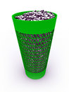 3D rendered  full recycle bin Stock Images