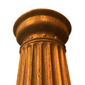 3d rendered illustration of a wood column Stock Photography