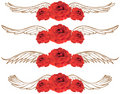 3D Rose with Wings Royalty Free Stock Image