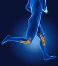 3D running medical man Stock Images