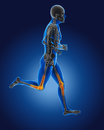 3D running medical man Royalty Free Stock Photos