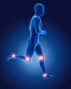 3D running medical man Royalty Free Stock Image