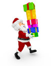 3D Santa carrying gifts Stock Image