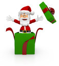 3D Santa giving a Christmas surprise Royalty Free Stock Photo