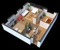 Trojrozměrný dělené byt