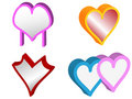 3d set of vector hearts Royalty Free Stock Photography