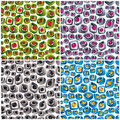 3d shapes seamless patterns. Stock Photos