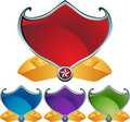 3D Shields Royalty Free Stock Photo