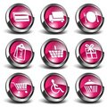 3D Shopping Icons Royalty Free Stock Photo