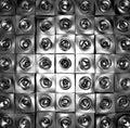 3d silver chrome sound-system deejay dj set Royalty Free Stock Photography