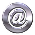 3D Silver Framed Email Symbol Royalty Free Stock Photo