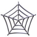 3D Silver Spider Web Stock Images