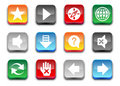 3d simple web browser icons Royalty Free Stock Photo