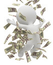 3d small people - money rain Stock Photography