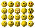 3D Smileys Stock Photos