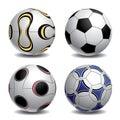 3d Soccer Balls Royalty Free Stock Image