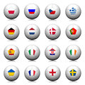 3D  Soccer balls with flag pattern. Stock Photography