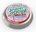 3d social media button Stock Photo