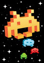 3D Space Invaders Stock Images