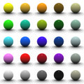 3D Sphere Blank Collection Royalty Free Stock Photo