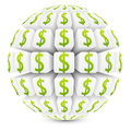 3d sphere with dollar symbol Stock Photography
