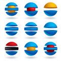 3d sphere  icons set. Stock Images