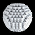 3D sphere made of cubes Stock Image