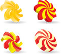 3D spiral icon vector Royalty Free Stock Photography