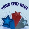 3D Stars Background Illustration Royalty Free Stock Image