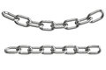3d steel chain Stock Images