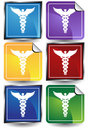 3D Sticker Set - Caduceus Stock Photography